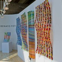 Fused Glass, Photographic Light Boxes, Lighting , Room Dividers, Wall Sculptures, Glass Art. by Renato Foti