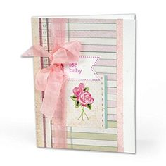 Amazon.com: Sizzix Framelits Dies with Clear Stamps by Doodlebug, Baby Girl…