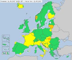 Valid for 12.05. 2017 Meteoalarm - severe weather warnings for Europe - Mainpage