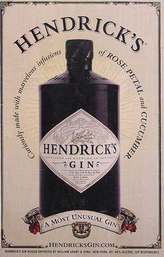 Hendrick's Gin Poster