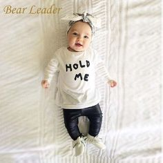 Baby Girl Clothes Sets Baby Clothing Suits born Long sleeve Clothes Letter T shirt+PU pants 2 pcs Girls $18.78   => Save up to 60% and Free Shipping => Order Now! #fashion #woman #shop #diy  http://www.bbaby.net/product/bear-leader-autumn-baby-girl-clothes-sets-baby-clothing-suits-newborn-long-sleeve-clothes-letter-t-shirtpu-pants-2-pcs-girls