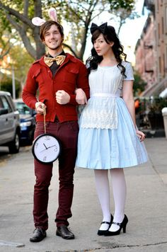 White Rabbit and Alice in Wonderland - Clever Halloween Costumes Inspired By Your Favorite Movies - Photos