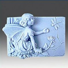 Flower Fairy libelule instrumente tort fondant în formă de decor de ciocolată silicon mucegai tort, l8.5cm * w6.5cm * h2.7cm – USD $ 8.99