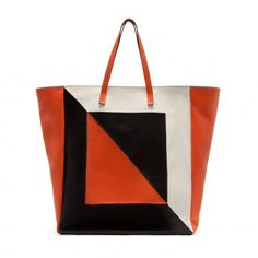 Zara Shopper Bag with Three Shades of Orange « Photo Gallery | BO·Y vogue