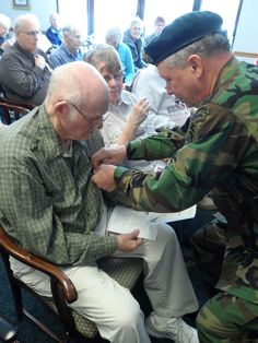 Highview Vets receive their pins. #veterans #seniors #health #retirementhome #assistedliving #elders