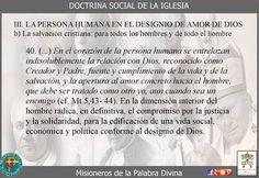 Misioneros de la Palabra Divina: DOCTRINA SOCIAL DE LA IGLESIA