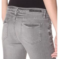 HPBrand New Rockstar Denim Never Worn with price tag on it!!! Low-risk stretch jean slightly faded grey wash with a slim tapered leg, 5- pocket styling, zip fly with button closure.  Measurements: waist 25, inseam length 29 Rockstar Jeans