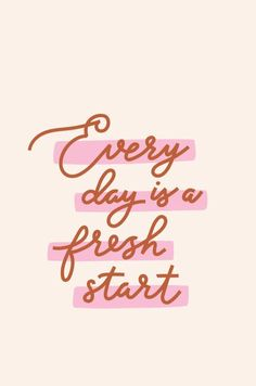 Every Day is a Fresh Start - words of wisdom - quotes - quotes to live by -quotes deep - quotes about strength - quotes inspirational - words of encouragement - self love quotes - self care quotes -inspirational quotes about life inspiration quotes - Words Of Wisdom Quotes, Self Love Quotes, Happy Quotes, Quotes To Live By, Positive Quotes, Motivational Quotes, Quotes Inspirational, Deep Quotes, Inspirational Words Of Encouragement