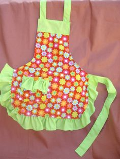 Little Girl Bright Apron!  Available in several sizes!