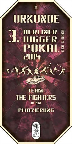 urkunde 3. Berliner JuggerPokal Der Kinder 2014