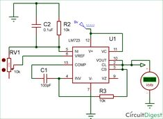 Frequency divider circuit diagram electronic circuit diagrams lm723 voltage regulator circuit diagram publicscrutiny Image collections