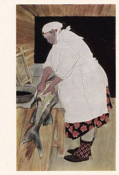 """V. Tsigal """"Toilers of the Sea"""". Complete Set of 12 Vintage Prints, Postcards in original cover -- 1968"""