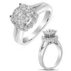 Ebay NissoniJewelry presents - Ladies Diamond Engagement Ring in 14K White Gold with 1.03CT Diamonds    Model Number:UB8031LSW/H    http://www.ebay.com/itm/Ladies-Diamond-Engagement-Ring-in-14K-White-Gold-with-1.03CT-Diamonds/221630229915