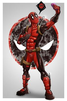 Deadpool poster by on DeviantArt Films Marvel, Marvel Art, Marvel Dc Comics, Marvel Characters, Marvel Heroes, Marvel Avengers, Deadpool Art, Deadpool Funny, Deadpool And Spiderman