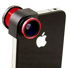 ThinkGeek :: Olloclip iPhone Camera Lens it's too cool! Love mine.....