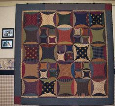 "Love this ""Peter Paul and Aunt Mary"" quilt as-is, but I'm itching to make a version in sherbet colors! Quilt Block Patterns, Pattern Blocks, Quilt Blocks, Primitive Quilts, Primitive Folk Art, Star Quilts, Mini Quilts, Quilting Projects, Quilting Designs"