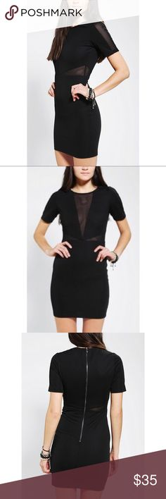 Urban outfitters black cut out dress Lucca couture from urban outfitters black cut out body con dress. Size XS. Excellent condition. Urban Outfitters Dresses