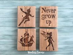 Peter pan nursery decor, Never grow up sign, New baby gift, Baby shower gift, Peter Pan baby shower, Nursery quotes, Nursery decor