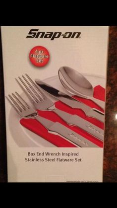 Christmas Gift ! Snapon Wrench Handled Silverware Flatware Set Spoon Fork Knife