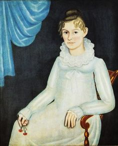 """Ruth Hayes Palmer,"" 1818, by Ammi Phillips"