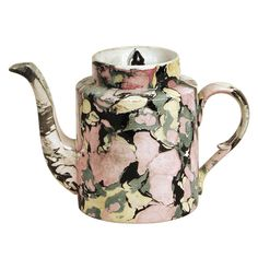 A Sarreguemines Tea Pot | From a unique collection of antique and modern tea sets at http://www.1stdibs.com/furniture/dining-entertaining/tea-sets/