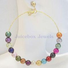 CLIP ON  or Pierced 3in MULTI Miracle Bead Large Handmade USA Hoop Earrings V78 #Handmade #Hoop