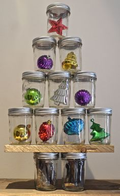 Inspiration - could also use candies, florals, cookies, small village pieces, etc..!!!.Tree stacked up