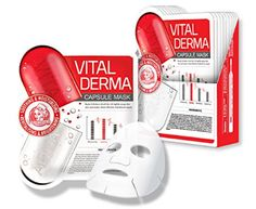 *Nightingale* VITAL DERMA CAPSULE MASK  Intensive Moisturizing   +   Brightening   +  Calming  – It delivers abundant water to dry skin effectively, thanks to natural moist factor Hyaluronic Acid and high water holding capable Trehalos.  – It helps brightening your dull skin through Leontopodium Alpinum flower extract and Nelumbium speciosum flower extract.  Immediate water supply Improve dry, dull skin Low irritated high functional sheet mask