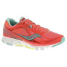 Most likely my next new pair of shoes. These were so incredibly comfy #charlesriverrunning  Women's Saucony Kinvara 5 shown in ViZiCORAL/Blue