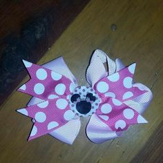 Hairbow Minnie Mouse handmade never been worn