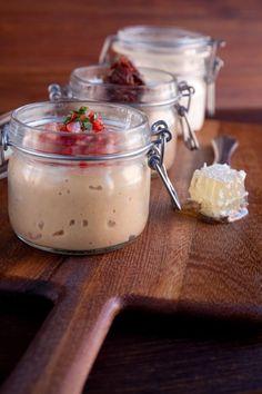 Vasi- mini mason jars & tuscan toast  ricotta + honeycomb roasted eggplant + mozzarella + tomato teleggio + saba grapes + black truffle chicken liver pate