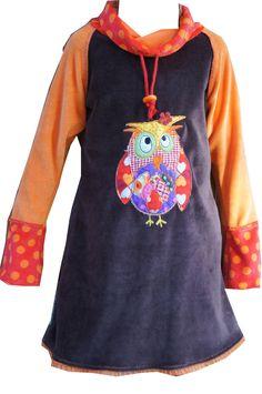 Schnitt: Mareen als Kleid aus Nicky mit Eulenapplikation, gesehen bei dawanda