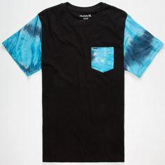 Hurley Tie Dye Mens Pocket Tee Black  In Sizes