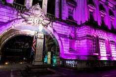 LONDON, ENGLAND - OCTOBER 01: Somerset House is illuminated pink for Breast Cancer Campaign's 'Turn London Landmarks Pink' for breast cancer awareness month on October 1, 2012 in London, England. (Photo by Ian Gavan/Getty Images)