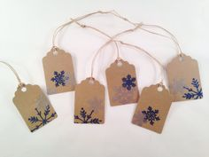 Snowflake Gift Tags by OccasionalGoods on Etsy www.etsy.com/shop/OccasionalGoods