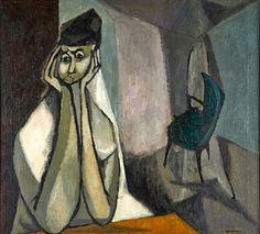 The Blue Chair - Sonia Gechtoff (b. 1926)