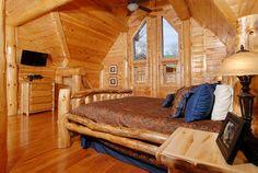 Paul Bunyan's Tree House- bedroom #pigeonforge #tennessee #cabin #cabinrental #smokymountain #vacation