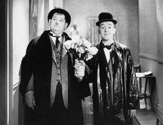 """""""Sowas kommt von Sowas"""":  Als Oliver Hardy und Stan Laurel ihren ersten..."""