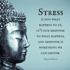 Stress is not what happens to us. it's our response to what happens. And response is something we can choose.