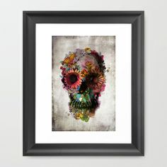 SKULL 2 Framed Art Print by Ali GULEC - $32.00