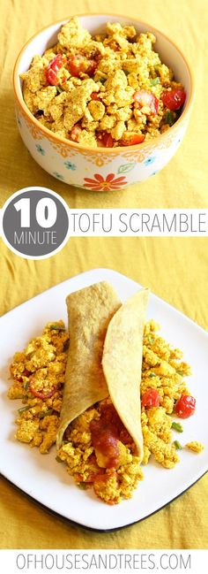 Every vegan has to have a tofu scramble recipe. Because eggs. Spices like cumin and turmeric make this savoury dish perfect for any time of day. Delicious Breakfast Recipes, Vegan Recipes Easy, Vegetarian Recipes, Scrambled Tofu Recipe, Turmeric Health, Tofu Scramble, Savoury Dishes, Roasted Vegetables, Healthy Eating
