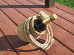 Lariat Rope Wine or Liquor Bottle Holder by PudwillsCraftCorner, $35.00