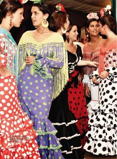 flamencas - I really love the purple and green