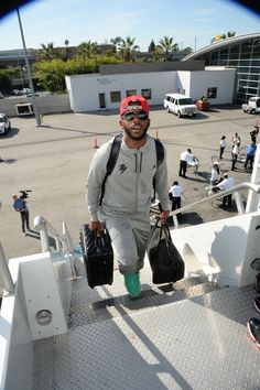 Chris Paul boards the plan en route to Shenzen, China where the @laclippers are set to square off with the @nbahornets   in the 2015 #NBAGlobalGames