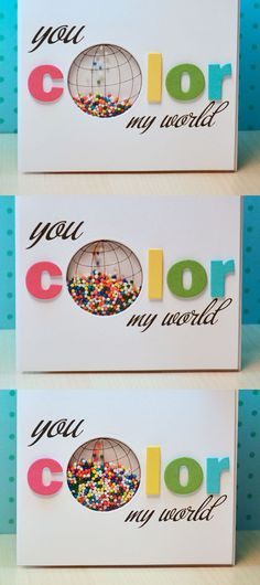 too clever! Ribbon Girls {Handmade Cards}:  You Color My World