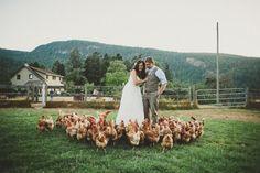Rustic DIY Wedding: Bride and Groom
