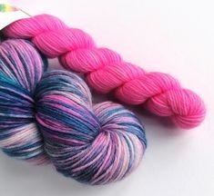 black blue variegated sock yarn Hand dyed sock yarn merinocashmerenylon sock yarn colorway : Night and Day fingering merino wool