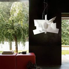 Foscarini big bang chandelier; check ebay; sculptural contrast; we are painting and possibly wallpapering walls, do white