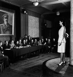 Committee in charge of deciding which clothes could be sold to Soviet women. By Robert Capa, Moscow, Soviet Union, 1947.