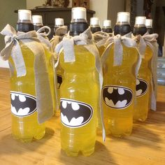 Flessen superhelden feest